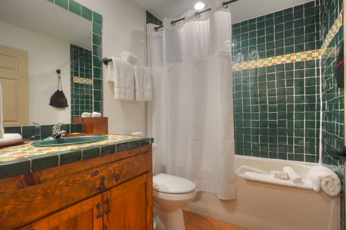 Bathroom with Luxury Amenities and Hair Dryer
